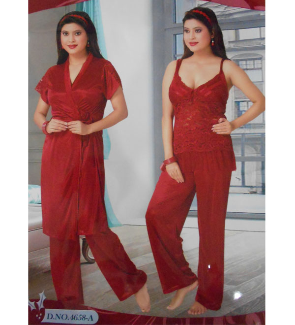 Night Suits  4658 Set of 3 piece - Buy Women Lingerie in India ... fc3fea9cd